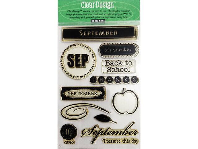 """Hero Arts """"September"""" Clear Design Stamp Set #CL056"""