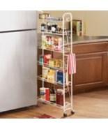Slim Rolling Pantry 6 Tier Shelf-6 - $52.41