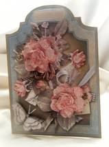 Handmade Greeting Card - Whisperings - Pink Roses Multi Ocassion Card - $7.95