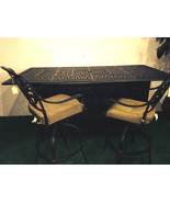 Bar set of 7 outdoor patio furniture cast aluminum 1 Elisabeth table 6 s... - $3,295.00