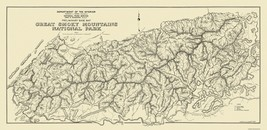 Great Smoky Mountain National Park - 1934 - 47.31 x 23 - $36.58+