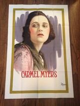 CARMEL MYERS Original 1918 Universal Personality One-Sheet Unrestored GO... - $499.00