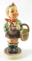 "Hummel Goebel 4"" Village Boy Carrying Basket Figurine 513/0 TMK3 - $11.99"
