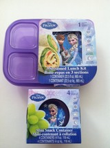 Disney Frozen 3 Sectioned Lunch Kit + Mini Snack Container Bundle of 2 Items - $2.99