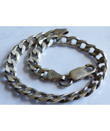 """925 Sterling Silver Italy Curb Chain Link Bracelet 7""""L - $91.08"""