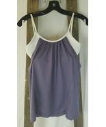 Ellie women XS reversible purple athletic yoga workout build in bra top - $7.92