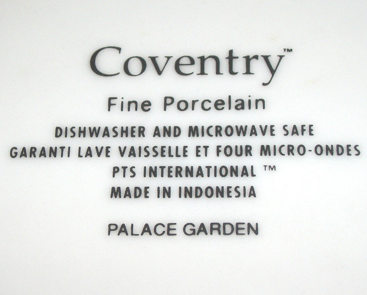 """1)COVENTRY PALACE GARDEN 8 1/8"""" DIA. SALAD PLATE-BLUE FLOWERS;YELLOW BACKGROUND"""