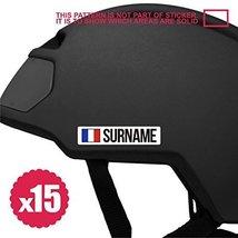 15x mini surname bike frame sticker decal helmet custom flag personalize... - $11.99