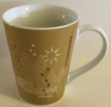 Starbucks 2013 Ceramic Geometric Sun and Snowfl... - $9.99