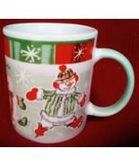 "Used AVON ""Ready Set Skate"" Snowman Coffee Cup/Mug - £2.04 GBP"