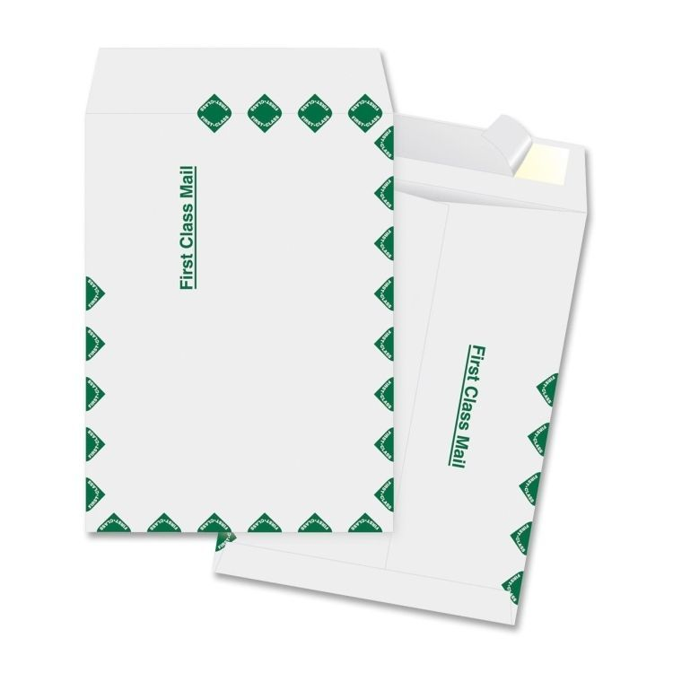 """Business Source Open End Document Mailer, 12""""""""x15.5"""""""", Peel & Seal, White, 100/B"""