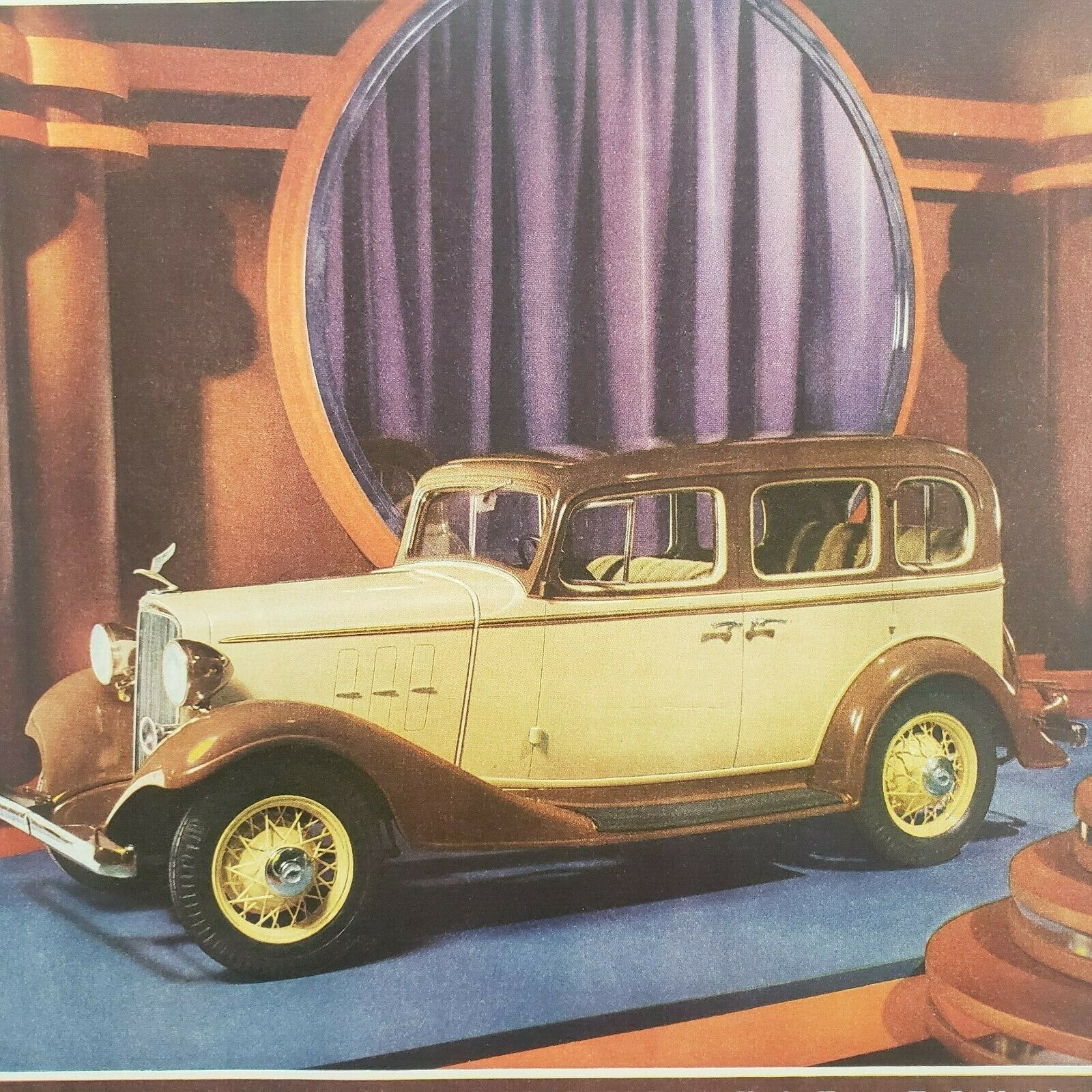 Primary image for 1933 Saturday Evening Post Chevrolet Print Ad Sport Roadster Coupe Sedan Phaeton