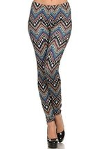 Women's Velour Full Length Cold Weather Legging, (Tribal Chevron, One Size) - $24.74