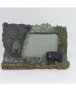 "Black Grizzly Bear Mountain Stream 4.5"" x 6"" Photo Frame Horizontal - $9.46"