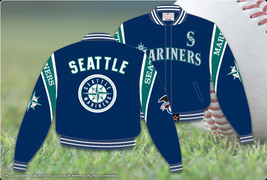 JH Design Seattle Mariners Reversible Twill Jacket  - $109.95