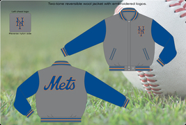 NY Mets MLB Reversible Wool Jacket - $109.95