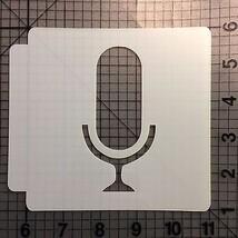 Microphone Stencil 100 - $3.50+