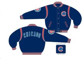 JH Design Chicago Cubs Wool Reversible Jacket  - $109.95