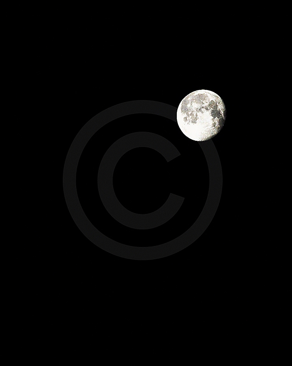 'The Moon' (night sky) Fine Art Print - 8x10 print matted to11x14