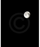 'The Moon' (night sky) Fine Art Print - 8x10 print matted to11x14 - $22.99