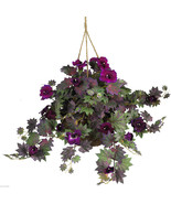 NEW Nearly Natural Morning Glory Silk Hanging Basket Item Number  6610 - $52.99