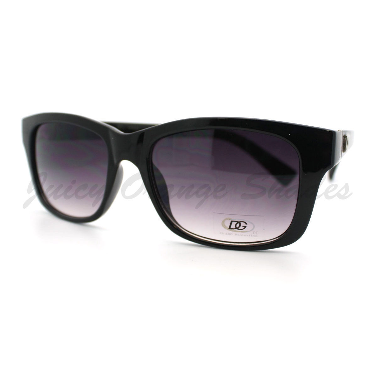 Fashion Sunglasses Womens Short Horn Rimmed Rectangular Shades