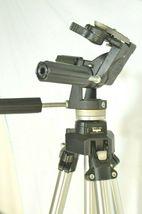 Manfrotto Bogen 3021 pro camera tripod +3047 Deluxe 3-way Pan/tilt Head image 3