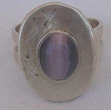 Purple cat eye silver ring 4 thumb200