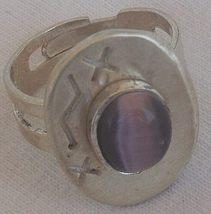 Purple cat eye silver ring 2 thumb200