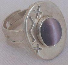 Purple cat eye silver ring 1 thumb200