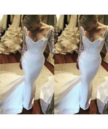Sweep train White China Wedding Dresses With Long Sleeve Bridal Gowns Cu... - $180.00