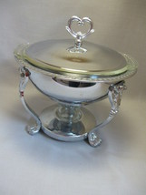 Serving Casserole Dish Glass Insert & Warmer Shelton Ware  - $22.95