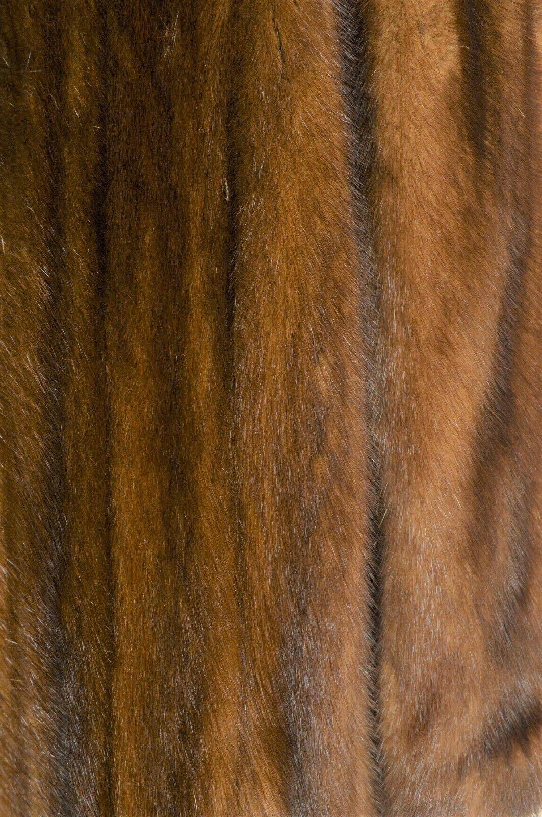 France Olivia mink fur coat FR 44 full length mahogany chic sophisticate brown image 11