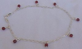 Red silver anklet - $22.00