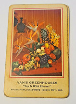 Vintage Retro Redislip Playing Cards Floral Centerpiece Van's Greenhouses  (003) image 1
