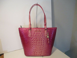Authentic Brahmin Large Asher Lotus Melbourne Pink Embossed Leather New ... - $229.99