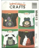 McCall's Sewing Pattern 4613 Crafts Halloween Appliques New - $9.98