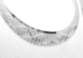 "Sterling Silver Diamond-Cut Swirl Cleopatra 18"" Necklace - $75.00"