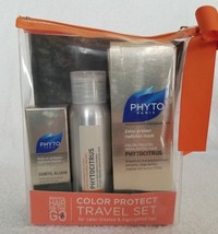 Phyto COLOR PROTECT 3Piece Travel Set PhytoCitrus Shampoo Mask Subtil Elixir New - $19.79