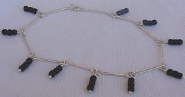 Black and silver anklet - $24.00