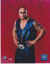 The Rock Dwayne Johnson  Red PF Vintage 8X10 Color Wrestling Memorabilia... - $4.99