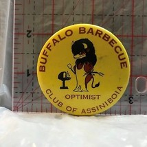 Buffalo Barbecue Optimist Club of Assiniboia  Novelty Button Badge BM - $5.10