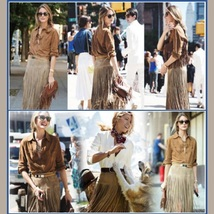 Western Double layer Long Fringe Tassels Brown Faux Suede Leather Midi Skirt image 2