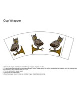 Owl Cup Wrapper-Digital clipart-Flowers  - $3.85