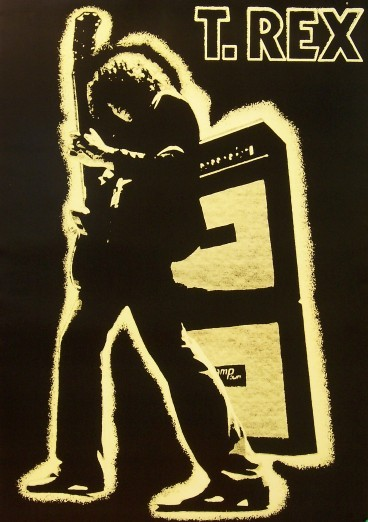 T rex poster electric warrior