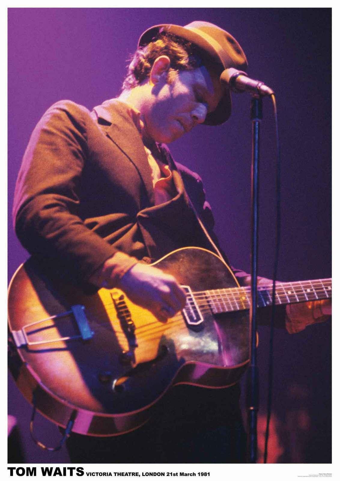 Tom waits poster guitar