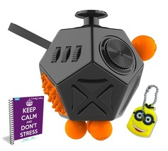 Fidget Cube 12 Sides Anxiety Toy Relax Stress Focus Light-switch Flip 2 ... - $7.32