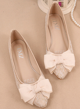 Beige Lace up Shoes,Shoe lace styles,Lace Up Shoes/Flats,Lace Ballet Flats - $48.00