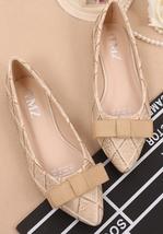 Beige Women Shoes,Shoe Flats styles,Beige Women Flats,Beige Women Ballet Flats - $48.00