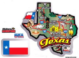 Texas State Map Die Cut Sticker - $4.20